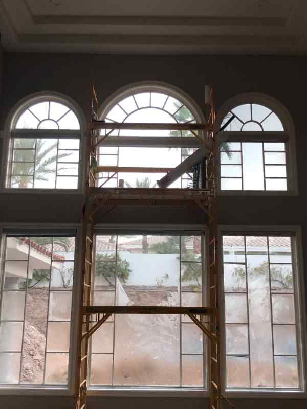 photo of 6 large windows using nightvision 15% film for pacific tint of las vegas